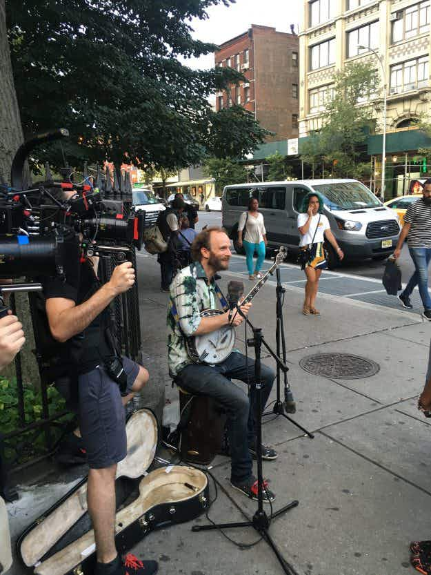 New York City Street performers surprised with free travel for a year