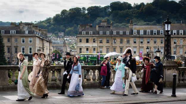 Celebrate all things Jane Austen at the annual festival dedicated to the English author in Bath
