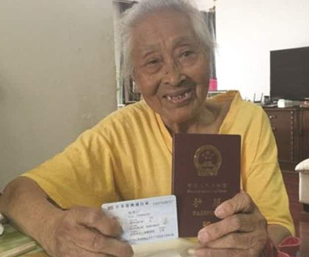 101-year-old Chinese grandma gets first passport and plans to travel