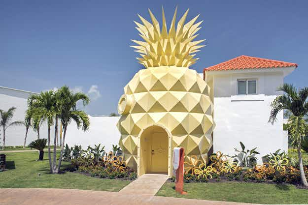Stay inside a pineapple at a SpongeBob-themed villa in the Caribbean
