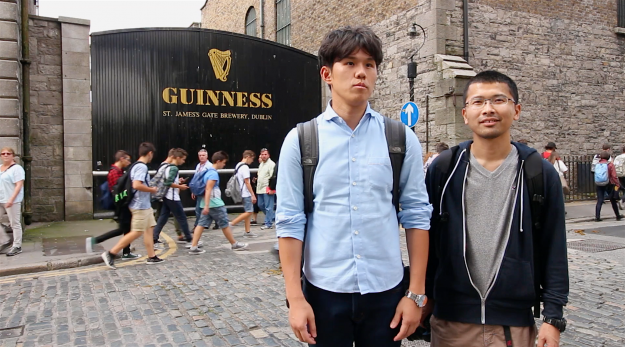 Is this Dublin's most photographed spot? We meet some of the 1.6m visitors to the iconic Guinness Gate