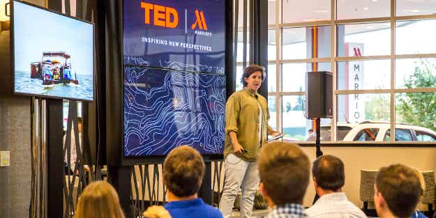 Get a little inspiration during your stay as TED Talks come to Marriott Hotels
