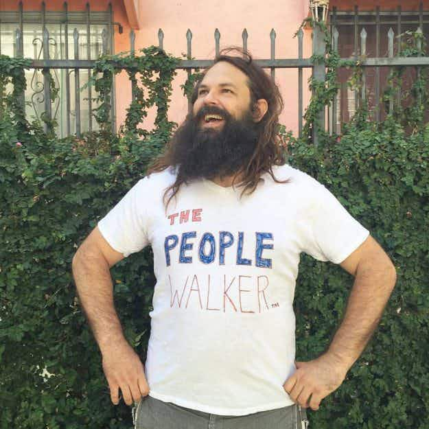 This man offers to walk people around Los Angeles for $7 a mile