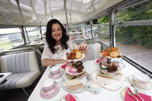 Let them eat cake (and drink tea on a vintage tour bus in Dublin)