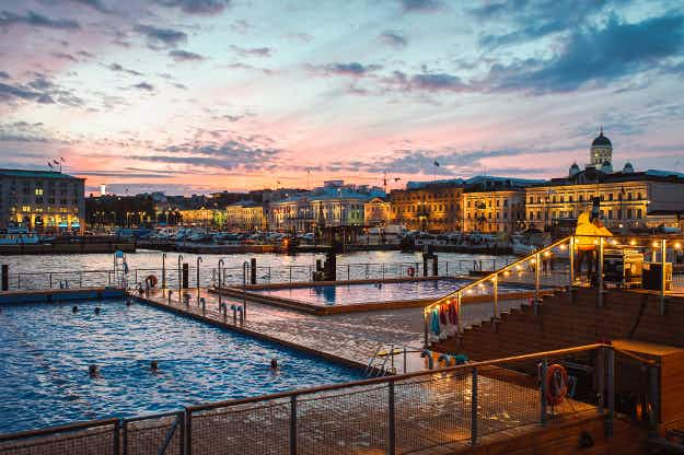 Experience cold seas and hot saunas at Helsinki's beautiful new outdoor pools