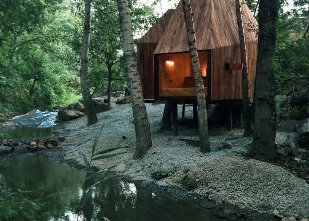 These adorable crowdfunded treehouses have been built in Chinese woodland