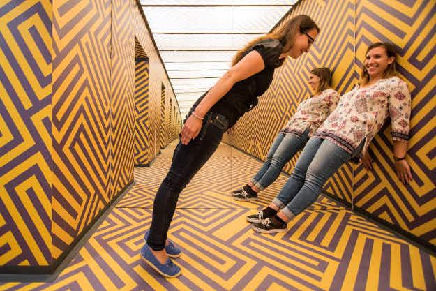 A Museum of Illusions has opened in Ljubljana, Slovenia