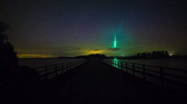 Swedish photographer captures colourful meteor while shooting Northern Lights