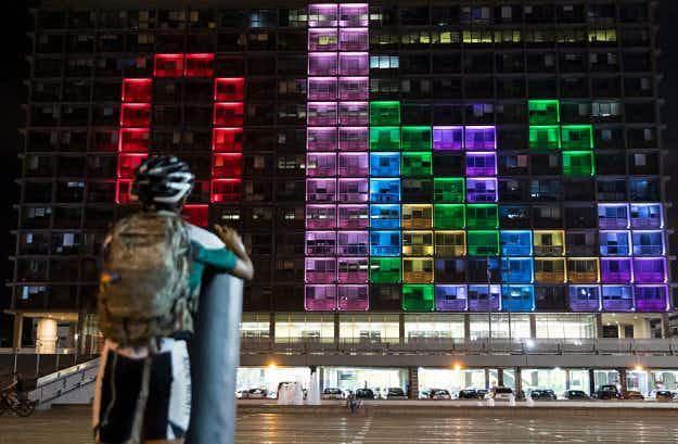 Tel Aviv has transformed its City Hall into a gigantic Tetris Game