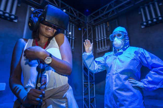Universal Orlando has a haunted house that combines virtual reality with live action scares