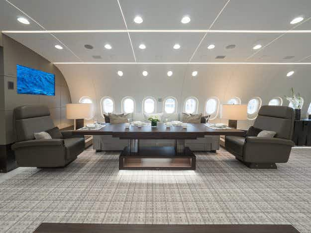 In Pictures: inside the world's first fully customised luxury Boeing 787 business jet