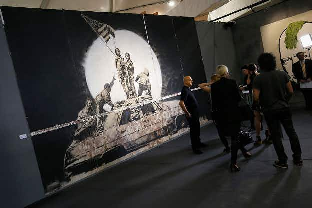 Get a sneak peek inside the unauthorised Banksy exhibition in Melbourne