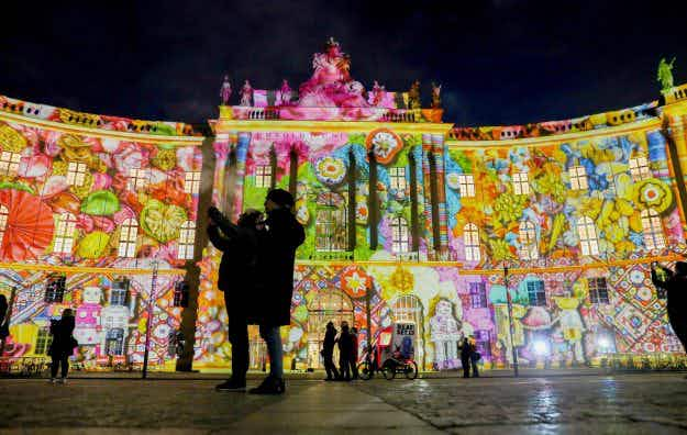 Stunning pictures show famous Berlin buildings illuminated for the Festival of Lights