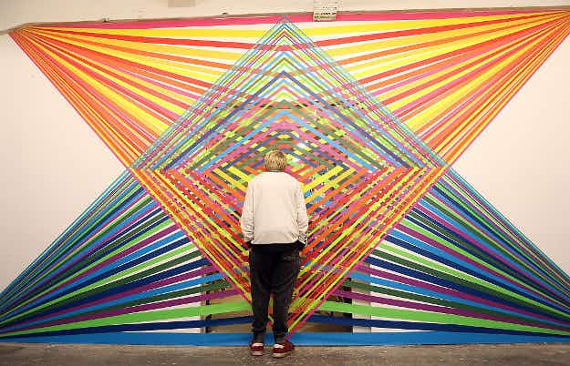 In Pictures: a tape art exhibition has opened at a gallery in Berlin