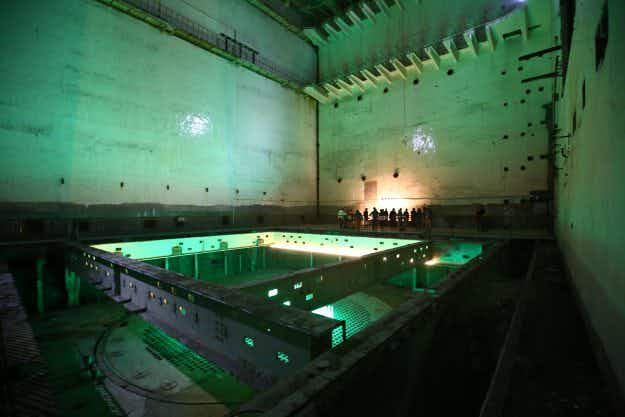In Pictures: former underground nuclear power plant in China opens to the public