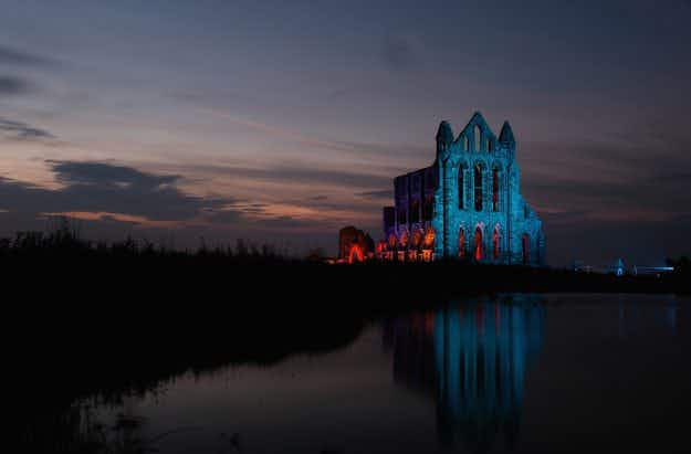 See the historic Whitby Abbey that inspired Dracula lit up for Halloween