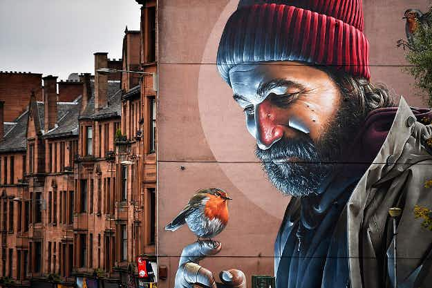 See the gorgeous street art along Glasgow's city centre mural trail