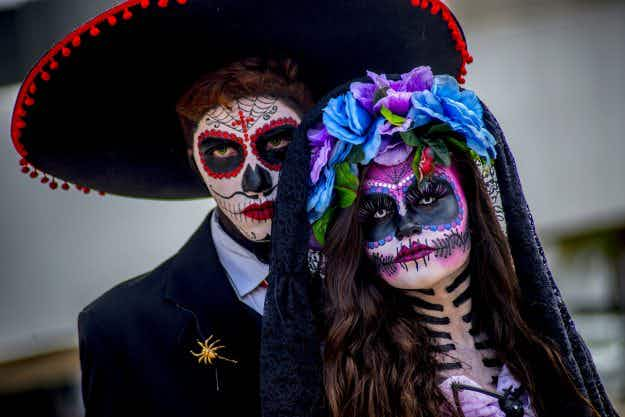 See the stunning photos of the first ever Day of the Dead parade inspired by James Bond