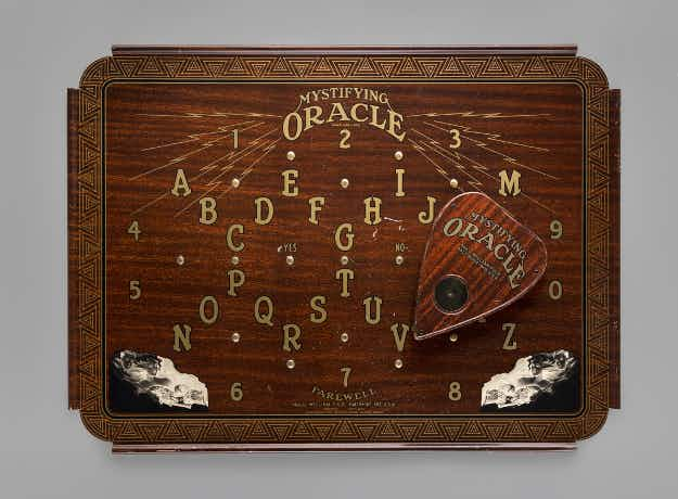 Travellers can peruse an Ouija board exhibition at San Francisco's airport museum