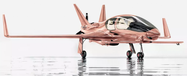 This rose-gold airplane is going on many people's fantasy Christmas list