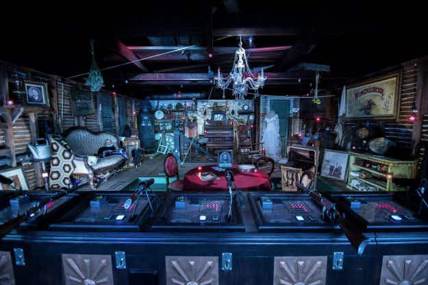 Step inside the newly opened secret attic at the spooky Winchester Mystery House this Halloween