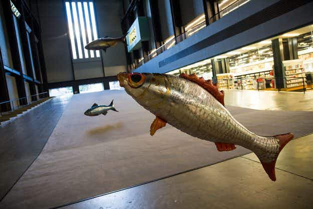 See the Tate's Turbine Hall comes to life with a giant helium-filled inflatable fish installation