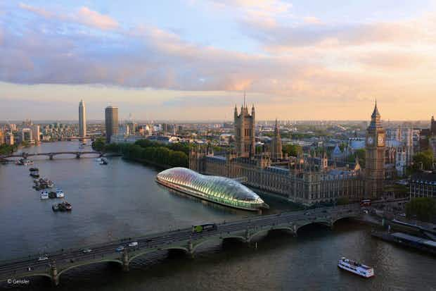 Floating bubble could replace London's Houses of Parliament during renovations