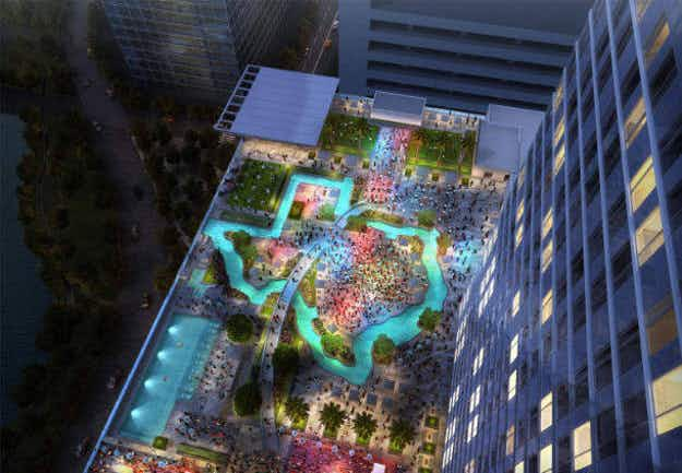 Houston hotel will feature a Texas-shaped lazy river pool