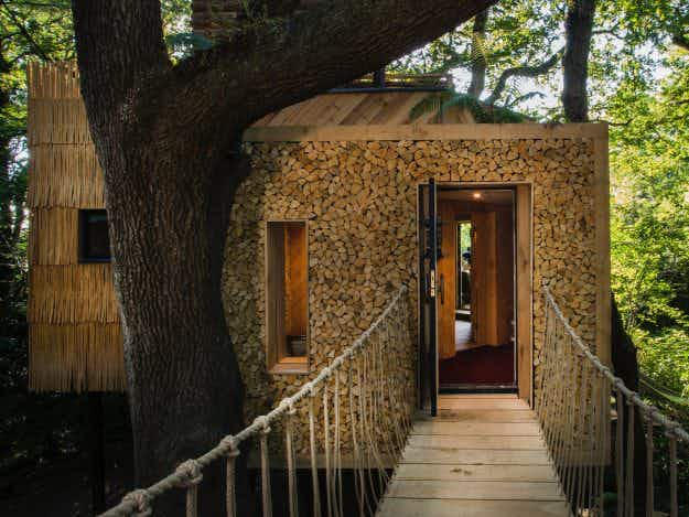 Seeking the ultimate in rustic luxury? You can rent this stunning tree house in Dorset