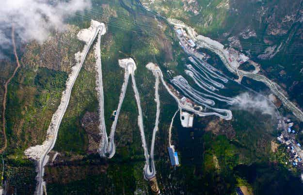 Check out this road in southwest China with its amazing 24 zigzag bends