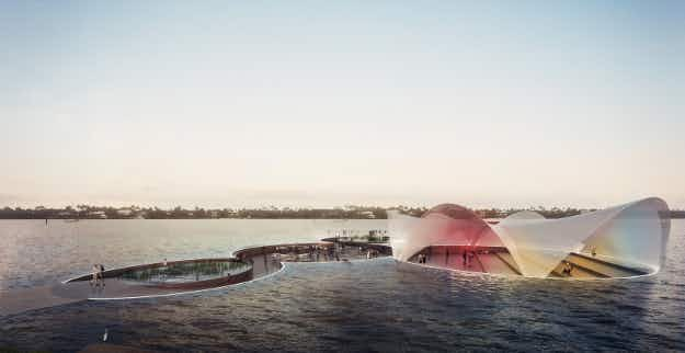 Italian architect designs floating sea plaza for Florida's waterfront