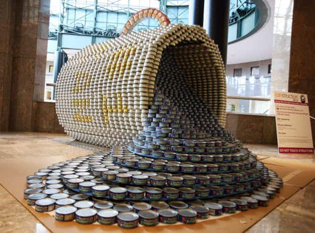 Yes we can! Food banks set to benefit as 'Canstruction' kicks off in Washington DC