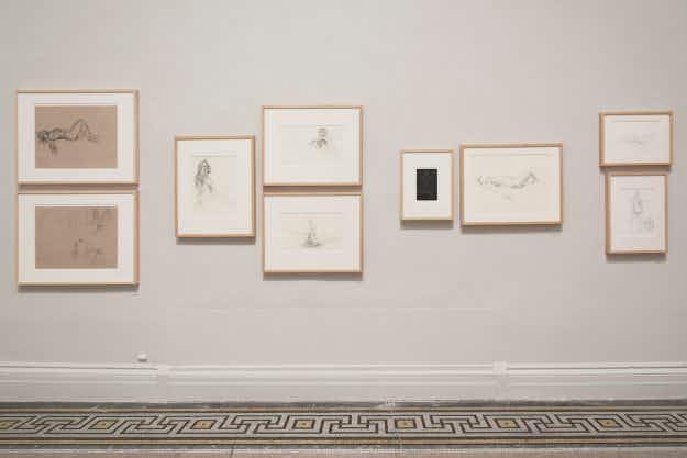 Lust for life - New York City art class has surprise model and sketches now in the Brooklyn Museum