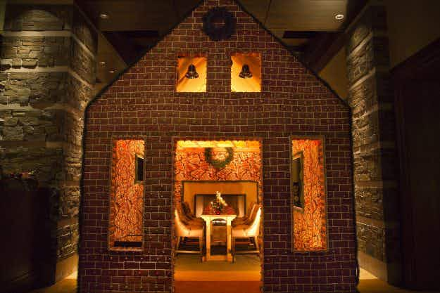 Dine inside an actual edible gingerbread house this Christmas