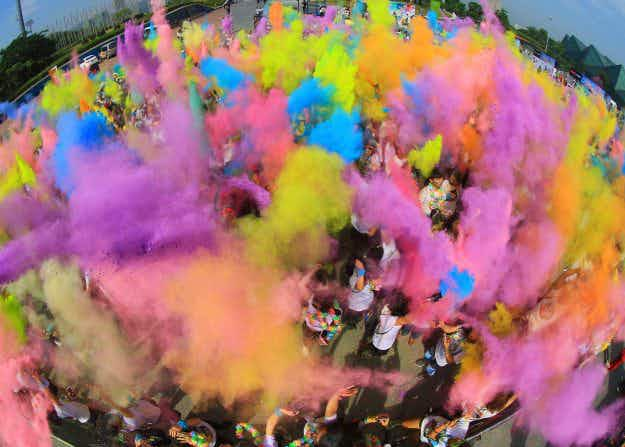 In pictures: a vibrant splash of cheer at the Shenzen Color Run in China