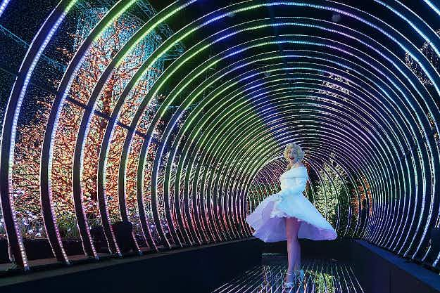 Universal Studios Singapore has set a world record for largest indoor light display