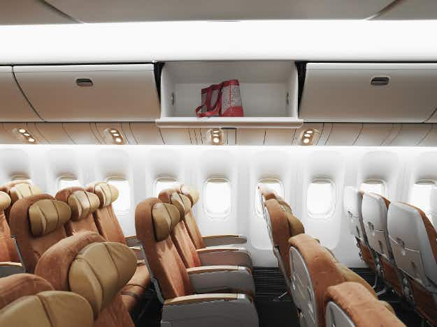 DO NOT put bags in overhead bins - United Airlines' new basic economy fare bans use of overhead space