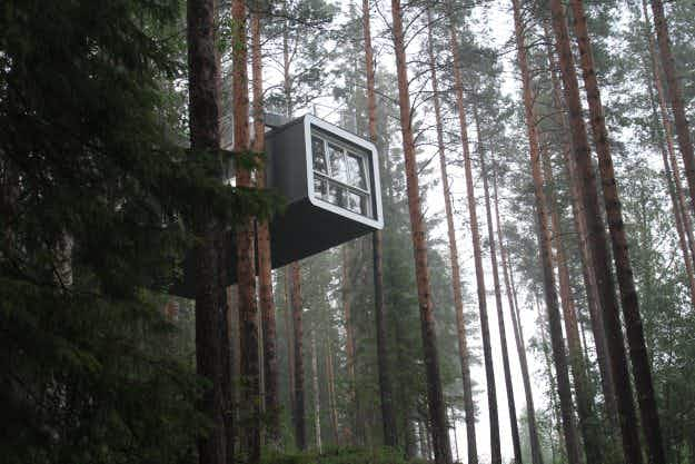 Stay in a UFO, a floating cabin or a mirror cube in the middle of the Swedish woods