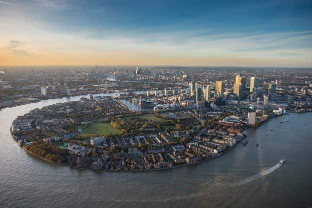 Stunning new helicopter images give a new angle on London skyline