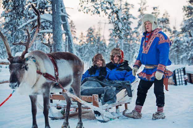 Try a reindeer safari this winter and stay in a glass igloo while viewing the Northern Lights