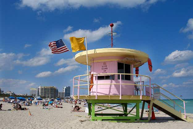 Buy a piece of beach memorabilia and relive summer all year-round with a Miami Beach lifeguard stand