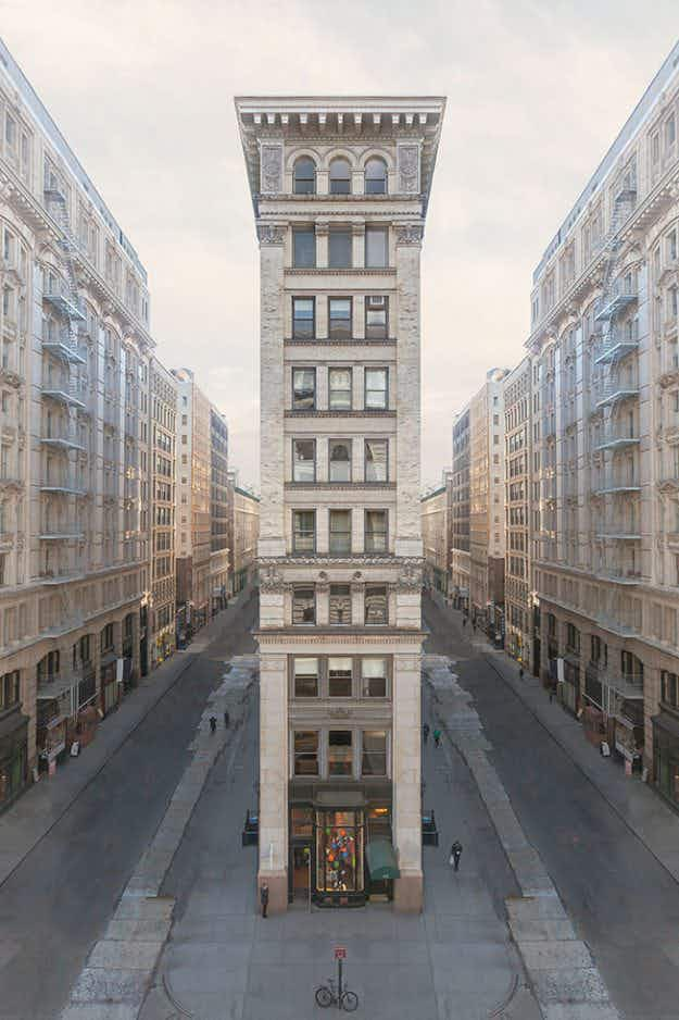 New York's most iconic buildings reimagined on deserted streets