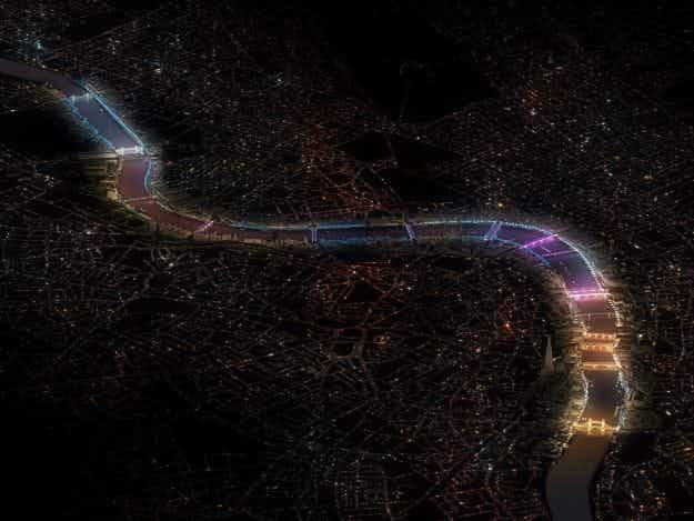 See the beautiful design proposals put forward to light London's bridges