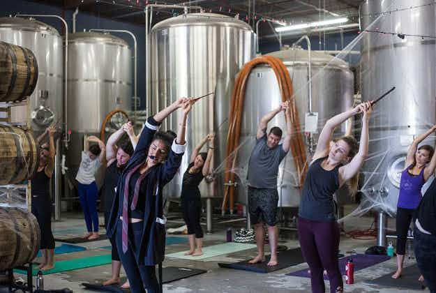 This brewery in Texas has a Harry Potter-themed yoga class