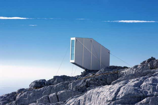 Would you stay in this cabin hanging over the Slovenian Alps?