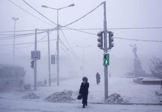 Incredible photographs show daily life in the coldest city on earth