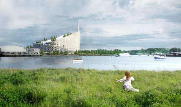 The rooftop of Copenhagen's new green power plant is to be used as a ski slope