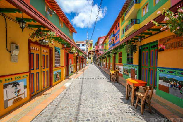 Is this the most colourful town in the world? Travel blogger captures the vibrancy of Guatapé in Colombia