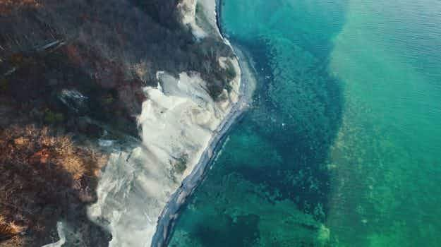 Videographer shares beautiful drone footage of Møns Klint in Denmark