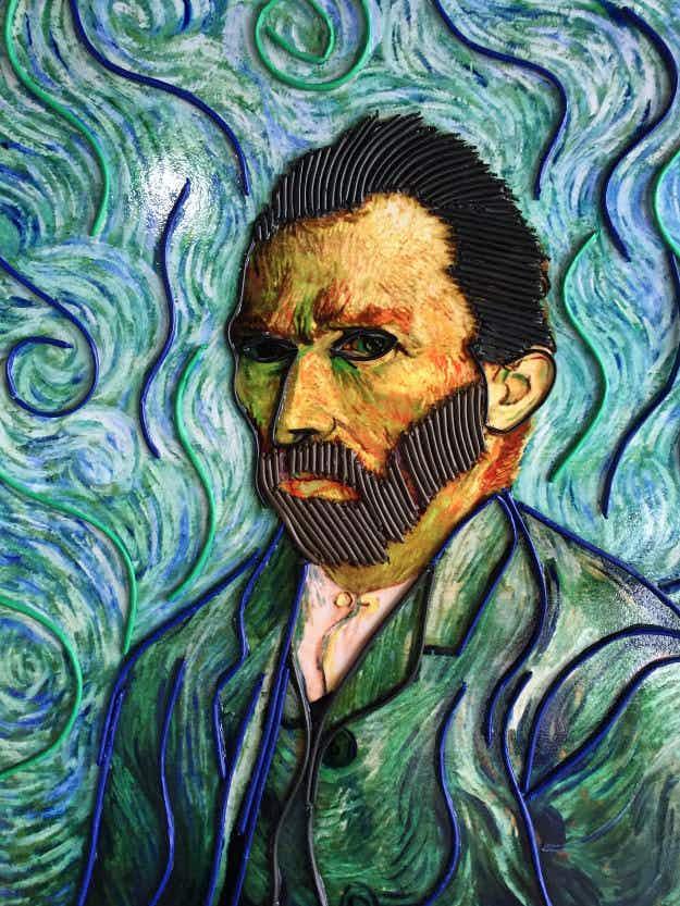 Van Gogh paintings go on display in China... rendered in chocolate